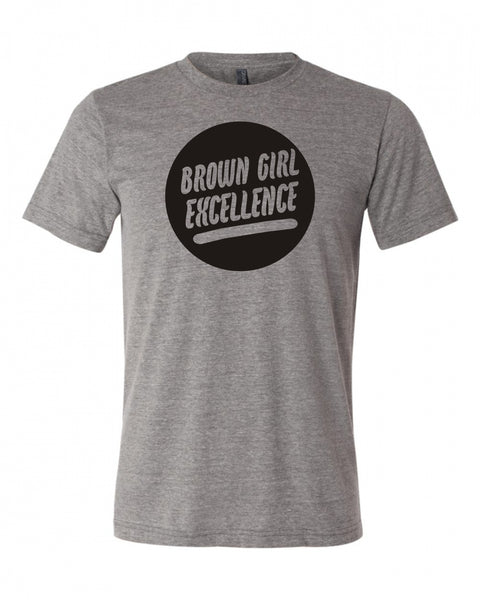 Brown Girl Excellence Grey Shirt