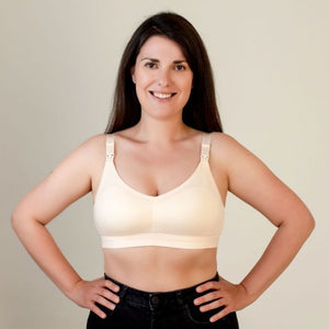 Peach Cotton Nursing Bra - Bra & Bebe