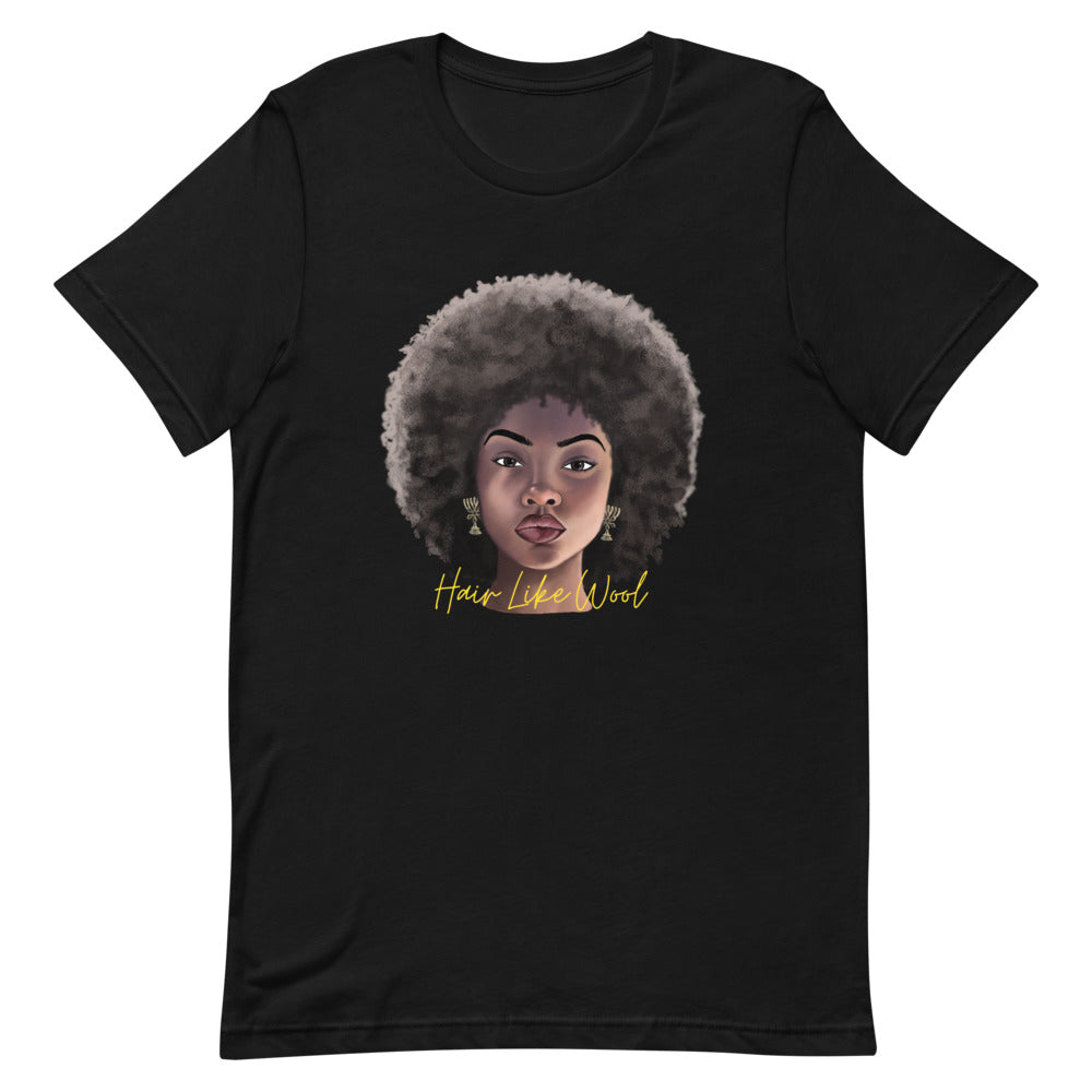 Hair Like Wool T-Shirt for Israelites, Black Israelites, Hebrew Israelites