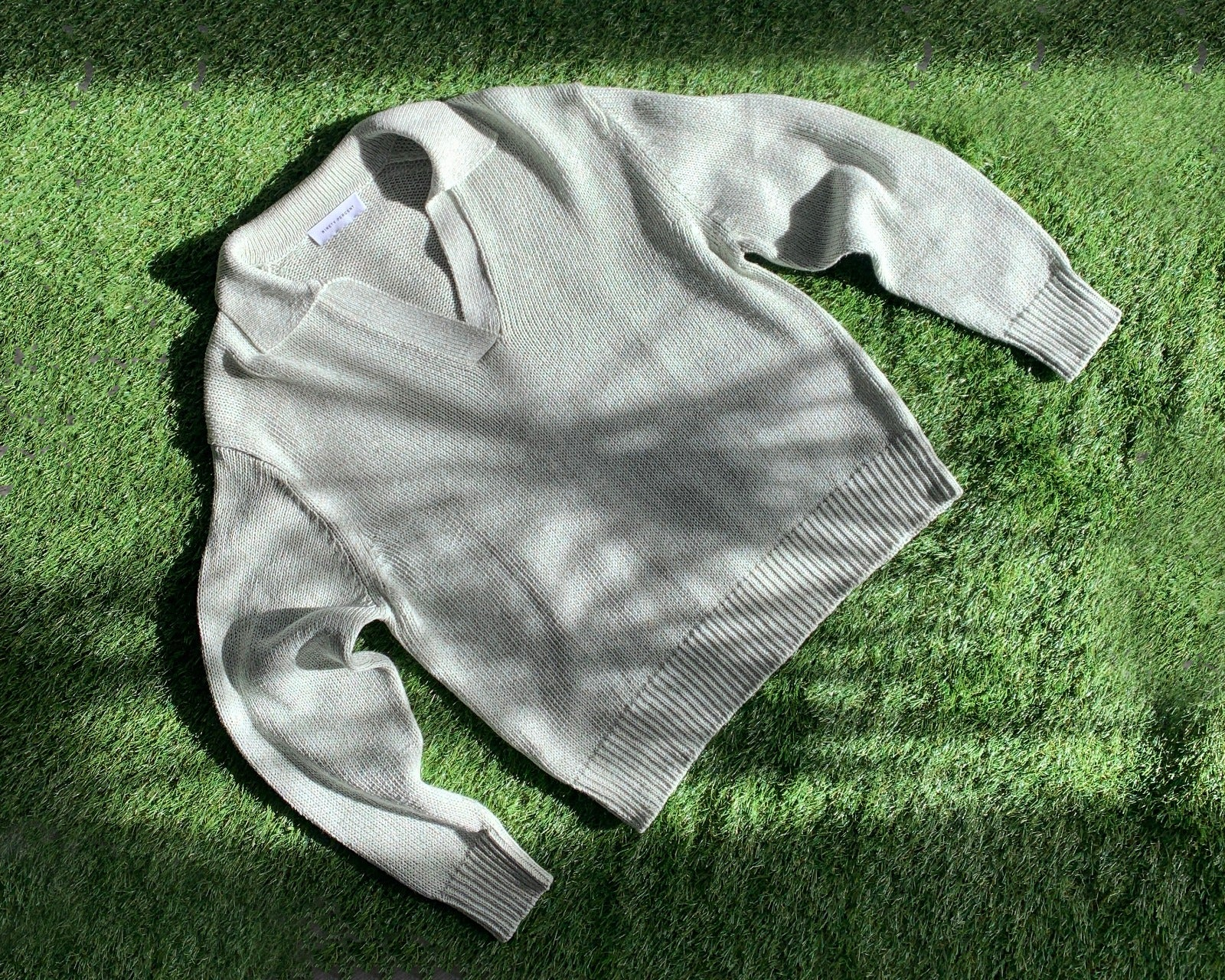 spring summer collection knit green sweater