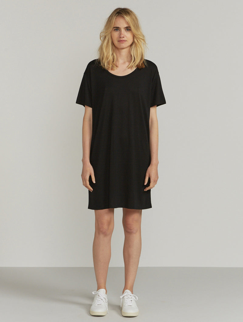Scoop neck tee dress