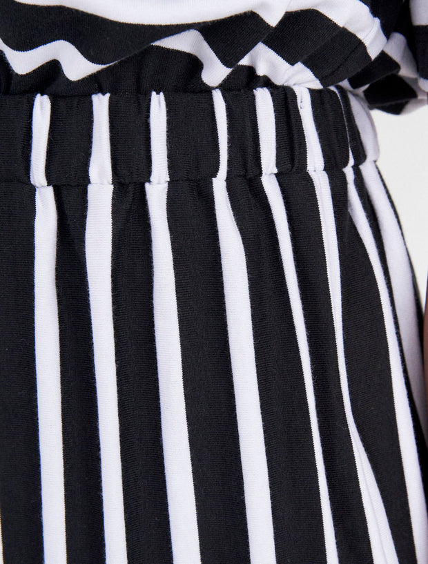 Organic Cotton Striped Elasticated Waist Dress