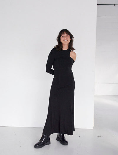Stretch Tencel™ Cut-Out Shoulder Dress