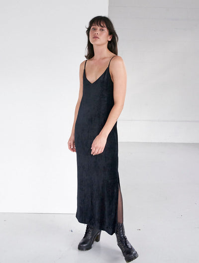 Sustainable Velour V-Neck Cami Dress
