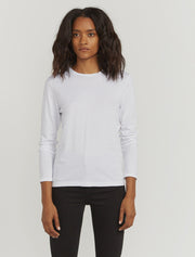 Women's Organic cotton classic fit long sleeve white top