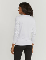 Women's Organic cotton classic fit long-sleeve white top