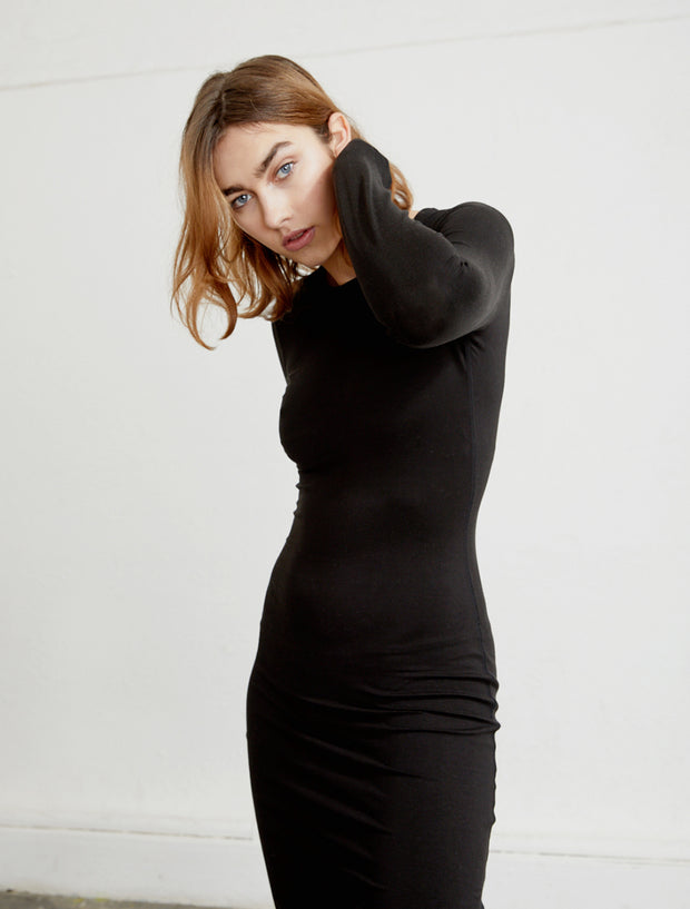 Women's Tencel fitted long sleeve dress