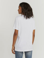 Women's Organic cotton boy fit white T shirt