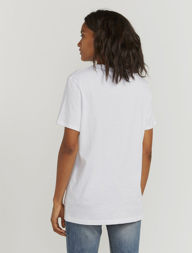 Women's Organic cotton boy-fit white T-shirt