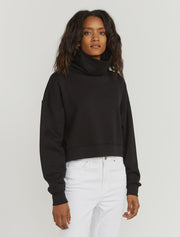 women's Organic cotton oversized black sweatshirt