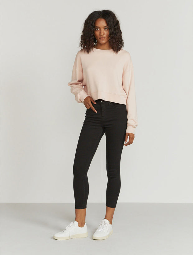 Women's Organic cotton cropped sweatshirt
