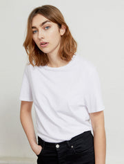 Women's Organic cotton classic fit white T shirt