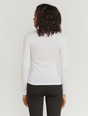 women's Organic cotton ribbed long sleeve top