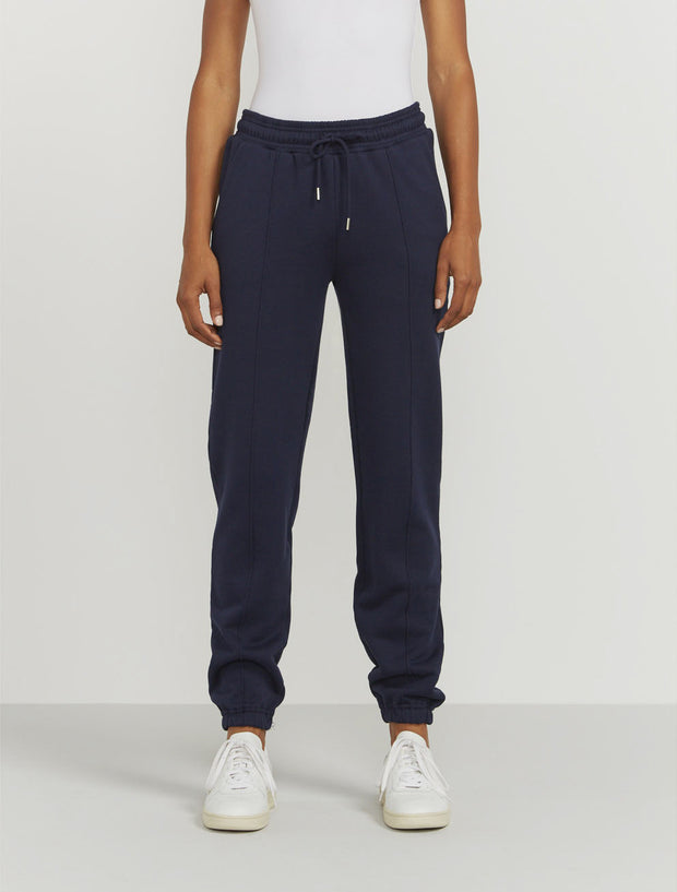 Women's Organic cotton boy-fit navy sweatpants