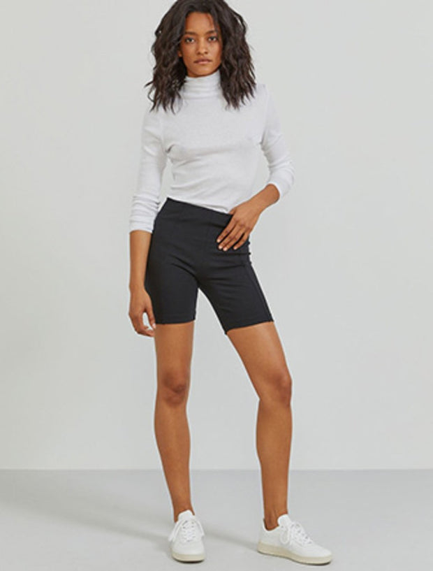 Stretch-jersey high-waisted cycling shorts