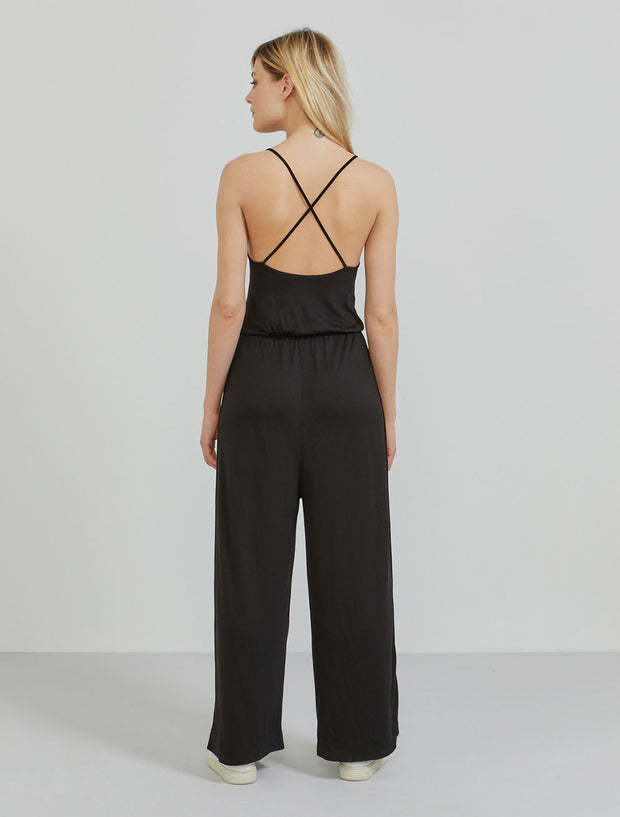 TENCEL™ cross-back jumpsuit