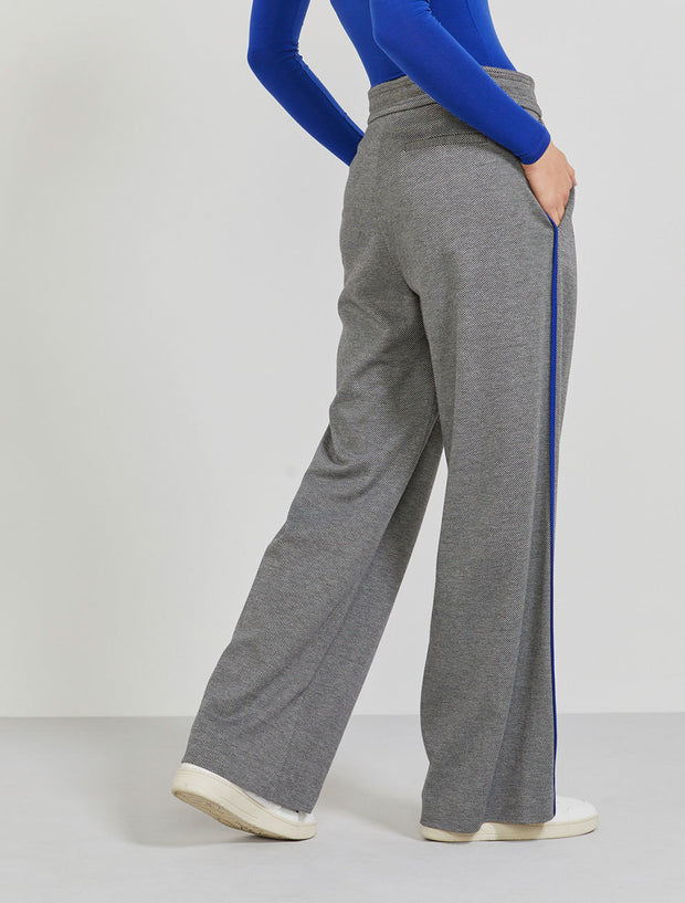 Women's Organic cotton and EcoVero jacquard grey trouser