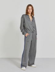 Women's Organic cotton and EcoVero twill jacquard grey jumpsuit
