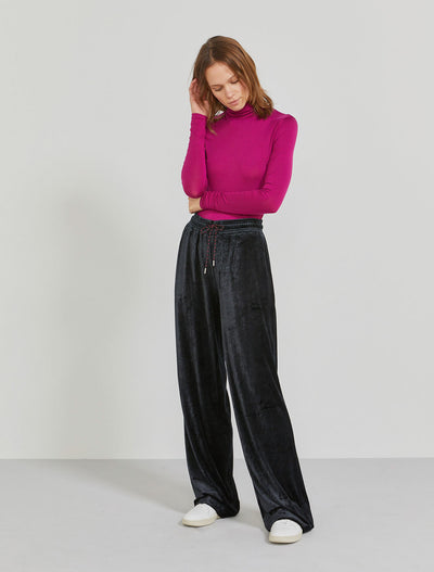 Women's MicroModal velour wide-leg trouser