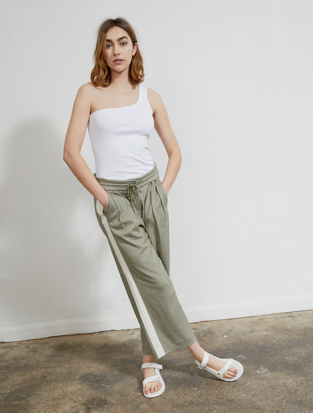 Women's Sustainable knitted jacquard culotte