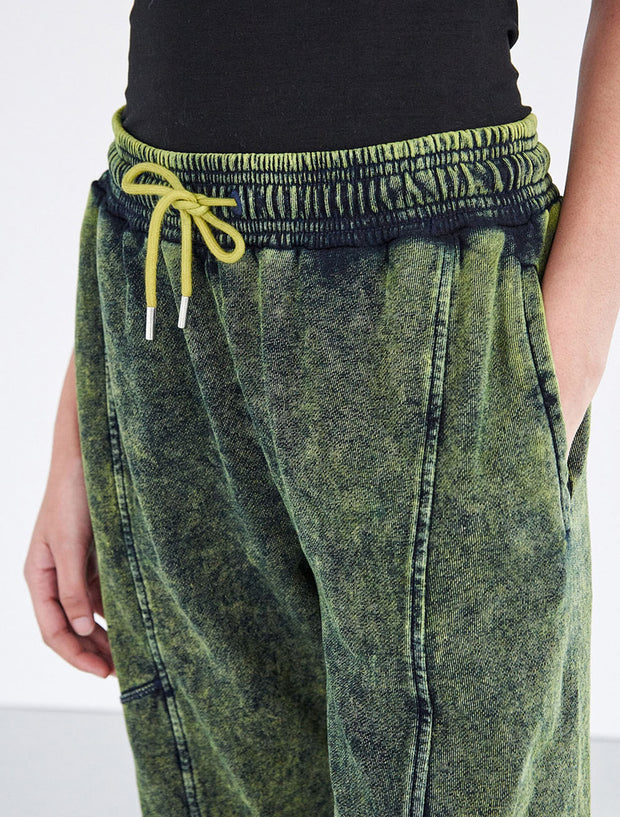Organic Cotton Stonewash Boy-Fit Sweatpant