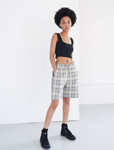 jacquard drawcord shorts