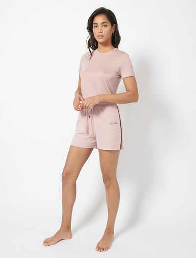 Brushed Tencel™ T-Shirt and Pyjama Shorts
