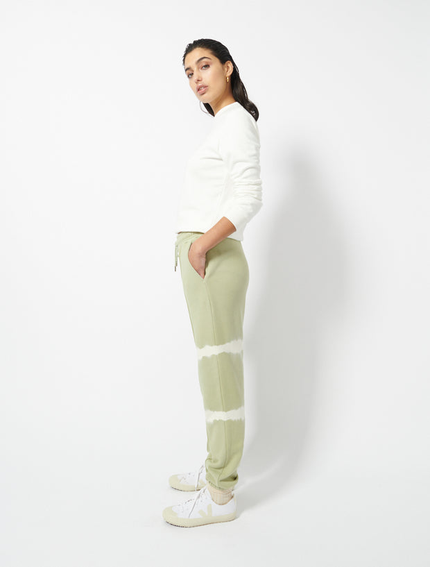 Organic Cotton Loopback Stripe Tie Dye Boyfit Sweatpants