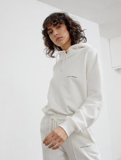 women's Organic Cotton white hoodie