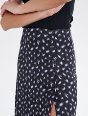Tencel Ditsy Black Maxi Skirt