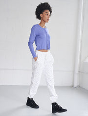 organic cotton ditsy sweatpants