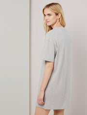 Organic cotton women's oversized T shirt dress