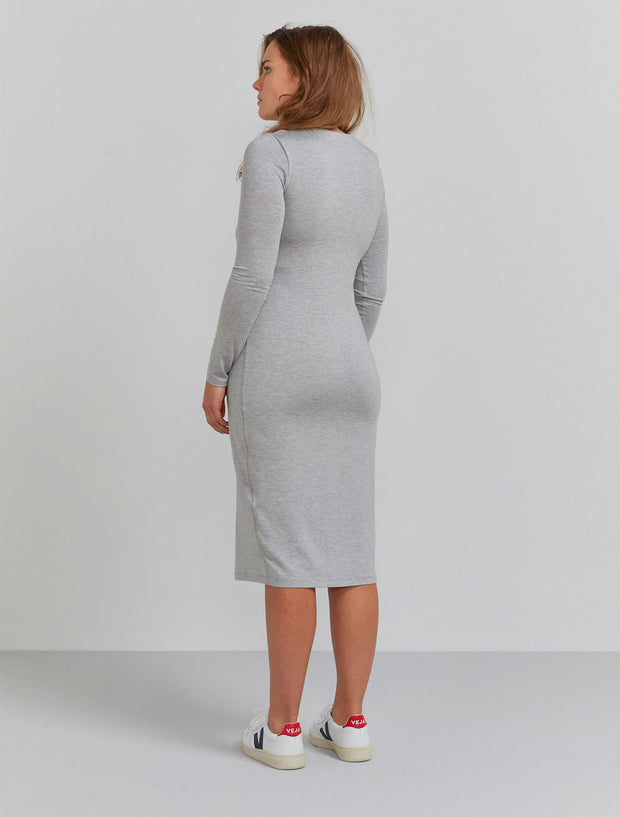 Women's Tencel fitted long-sleeve dress