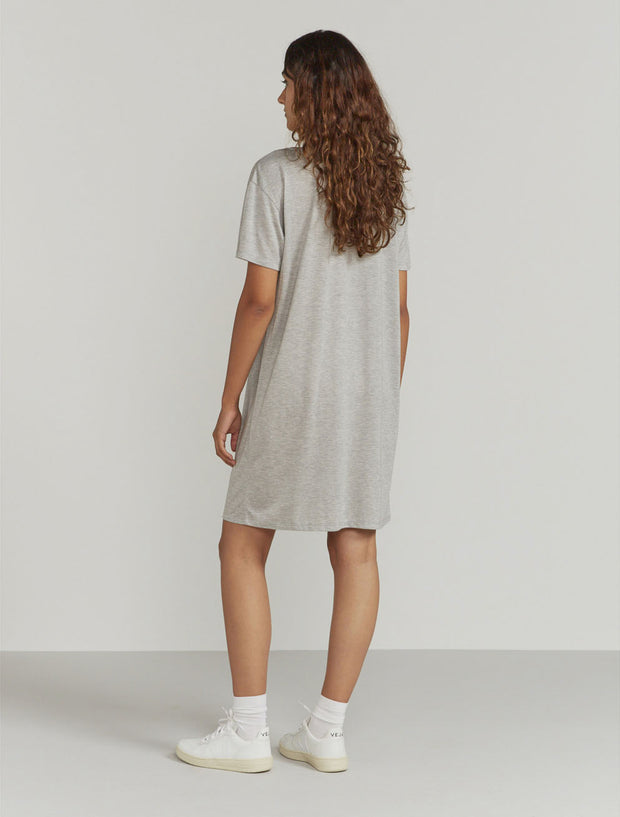 Women's Tencel slouchy scoop neck T shirt dress