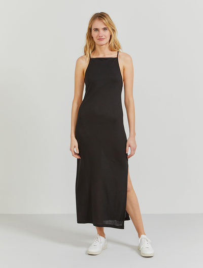 tencel cross back slip dress