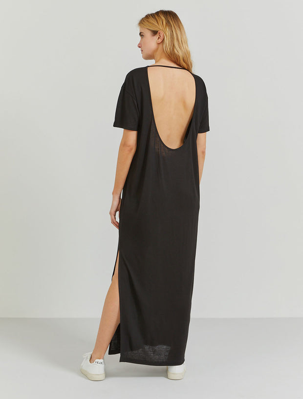 TENCEL™ open-back T-shirt maxi dress