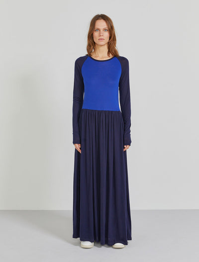 Women's Tencel single jersey raglan maxi dress
