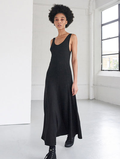 tencel single jersey panelled tank dress