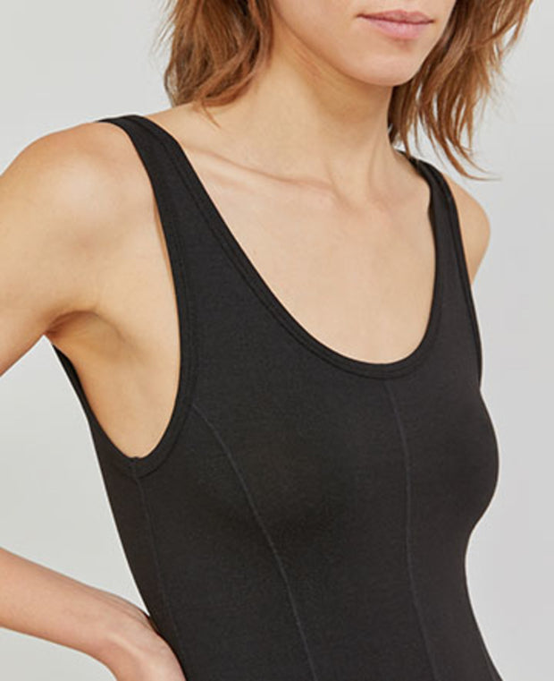 TENCEL jersey panelled tank dress