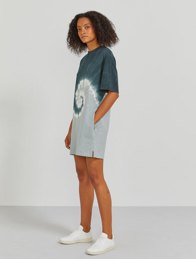 Organic cotton tie-dye women's T-shirt dress