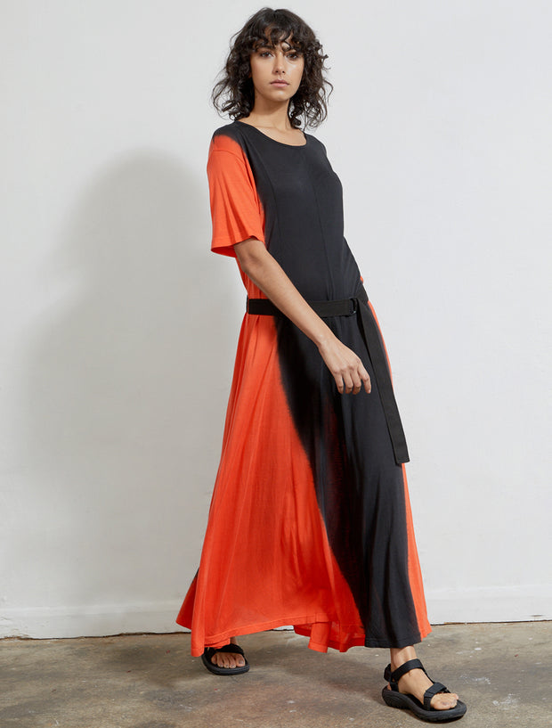 Women's Tencel jersey dip dye dress