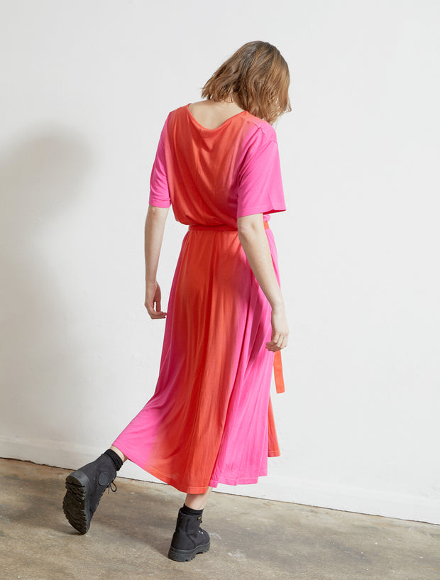 Women's Tencel jersey dip-dye dress