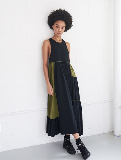Organic Cotton Patchwork Maxi Dress