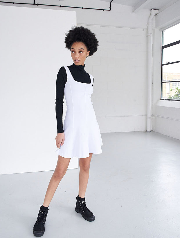 stretch jersey square neck skater dress