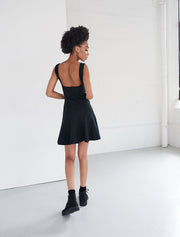 Stretch-Jersey Square Neck Skater Dress