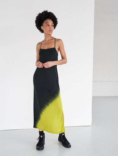 tencel dip dye slip dress