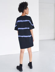 Organic Cotton Tie-Dye Striped Oversized T-Shirt Dress
