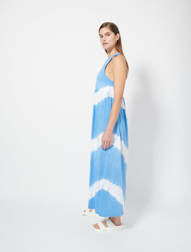 Organic Cotton Jersey Circle Tie Dye Maxi Dress