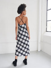 Organic Cotton Check Slip Dress
