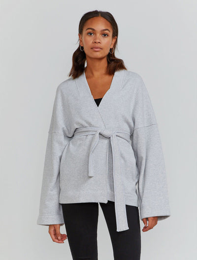 organic cotton wrap jacket